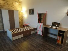 Jugendzimmer Kinderzimmer komplett Set Jugendbett Schreibtsch Schrank weiß rosa