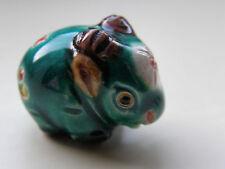 1 perline in porcellana di cinghiale, Verde/Multi 22 mm x 17 mm gioielli/artigianato