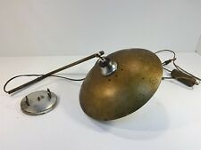Vintage Mid Century Wall Lamp - Gold UFO Flying Saucer - Adjustable Height