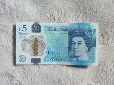 AK46 127329 Bank of England Polymer £5 Pound Note Genuine 2015 White Slice Error