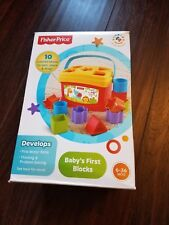 First Building Blocks Fisher Price Baby Toys For Kids Children colorful blocks