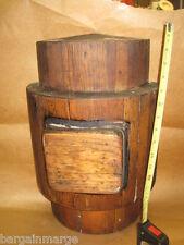 Rustic Vintage Hardwood Solid Foundry sand mold Pattern Beer Barrel Half