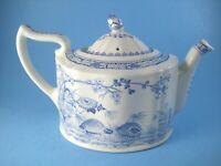 Furnivals Quail Teapot Blue Transferware Made in England
