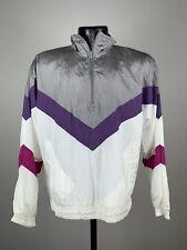 Unisex Vintage Throwback JcPenney Olympics Multi-Colored Half Zip Windbreaker M
