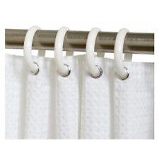 Zenith White Shower Curtain Rings (12 Rings)