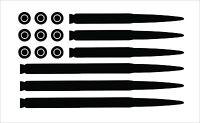AMMO FLAG  (Second Amendment) WINDOW DECAL STICKER