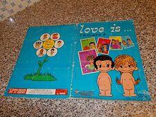 ALBUM LOVE IS PANINI 1977 COMPLETO BUONO ORIGINALE TIPO LULU CREAMY OSCAR BIA