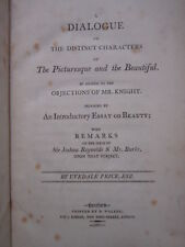 1801 Uvedale Price Dialogue on the Distinct Characters of Picturesque Beautiful