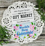 World's Best GAMMIE * Gift MAGNET * DecoWords USA Relative Special Spelling new