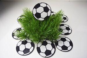 10 PCS Soccer Sports Party Supplies Favors Ball Decoration Black White Futbol HR