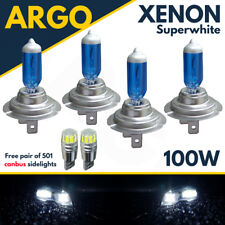 H7 H7 501 100w Super White Xenon Hid High/low/side Light Beam Headlight Bulbs
