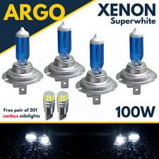 H7 Headlight White Xenon 100w Hid 501 Cob Led Side Light Beam Set Kit Bulbs 12v