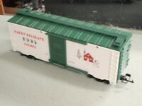 Lionel 87013 Large G Scale Christmas 1995 WHITE BOXCAR HAPPY HOLIDAYS HOUSE SNOW