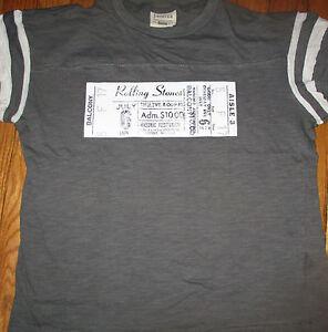 Repro ROLLING STONES 1978 Masonic Auditorium Detroit Blue Jersey Shirt RON WOOD