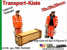 Spur G Lasercut 2x Transport Kiste 70x20x20mm aus Holz für z.B. LGB PIKO G