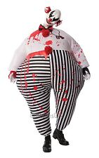 Inflatable Horror Clown Halloween Fancy Dress Costume & Mask Size M-L