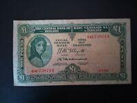 Banknote Ireland 1954(vf)1 pound.Rare.