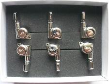 Schaller M6 Locking Tuners 19,5+21 (staggered) 135° 6 links Nickel