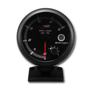 "3-3/4"" Tachometer for Diesel Alternator Built-in Shift Light 6000 RPM"