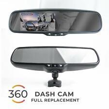 "Rear View Mirror with Ultra Bright 4.5"" Auto Brightness LCD & 360° DVR Recording"