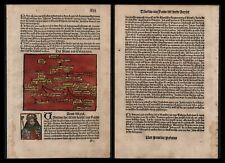 1499 Augustus Octavian Stammbaum Cronica Coellen Inkunabel incunable Blatt XLIII
