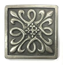 Silver Metallic Nickel 4x4 Resin Decorative Insert Accent Piece Tile