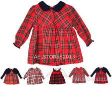 Robes rose à manches longues pour fille de 2 à 16 ans en 100% coton