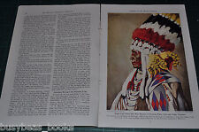 1944 magazine article, INDIANS OF THE WESTERN PLAINS, Native Americans color art