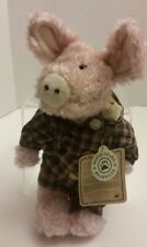 BOYDS BEARS PIG IN PAJAMAS PJ COLLECTIBLE TEDDY 9 INCHES MAPLE LEAF