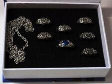 Hot Anime Katekyo Hitman Reborn Vongola 7 Ring + Necklace Cosplay Free Shipping