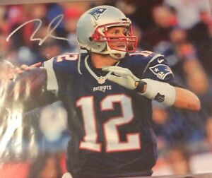 Tom Brady Signed Canvas 11x14 Proshop Coa 100% Legit Read Auto Autograph