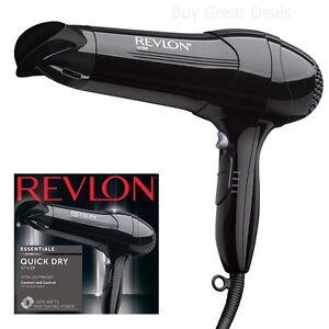 Premium Full Size Hair Dryer 3 Speed Blower Heat Dry Blow Turbo Essential Black