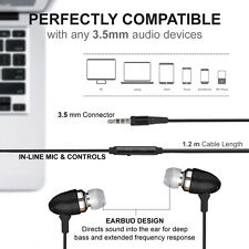Aluminium In-Ear Bud Headphones With Handsfree Mic Remote For Samsung Universal
