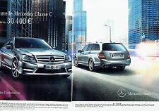 PUBLICITE ADVERTISING 116  2011   Mercedes Benz (2pages)   classe C break