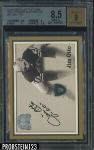 2000 Fleer Greats Of The Game Gold Border #63 Jim Otto HOF BGS 8.5 w/ 9 AUTO