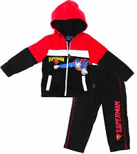 Kids Boys SUPERMAN Hero Character Hooded Tracksuit Outfit & Sets,2 3 4 5 6 8 YRS