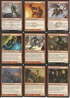 Red Human Bulk Commander Deck Building Assortment -MTG Magic Gathering 60+ Cards