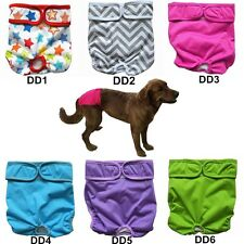 "3 Dog Diapers Nappy Reusable Washable Puppy Pants Male Female Small S 10"" to 15"""