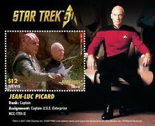 Nevis - Star Trek - Jean-Luc Picard, Souvenir Sheet - 2017 MNH