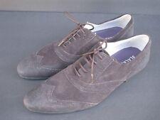 Blackstone Antracite Men's Dark Brown Suede Leather Oxfords, Size 45