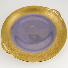 "FINE Pickard China ""Tracery & Blue Lustre"" Two-handled Tray, Hand Painted 24K"