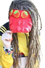 Fraise rouge pastel goth visière cap chapeau de soleil lolita cosplay indie grunge kawaii