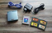 Nintendo Gameboy Advance Sp Konsole + 5 Spiele + Ladekabel + Linkkabel Game Boy