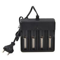 4 Slots Rechargeable 14500 16340 18650 Li-ion Batterie AC Chargeur EU Plug