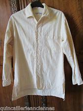 Chemise femme manches longues vintage La Factory Paris coton beige taille M