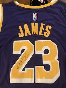 Lebron James Autographed Lakers Jersey. King James #23