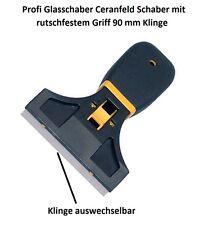 Profi Glasschaber Ceranfeld Schaber mit rutschfestem Griff + 90 mm breite Klinge
