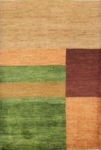 Geometric Gabbeh Kashkoli Oriental Area Rug Hand-knotted Contemporary 3x5 Carpet
