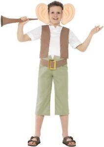 Smiffys Kinder Der Bfg Kostüm + Gelbgolden Fahrkarte Buch Woche Roald Dahl Tag