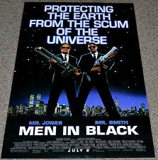 MEN IN BLACK 1997 ORIGINAL DOUBLE-SIDED MOVIE POSTER! WILL SMITH SCI-FI CLASSIC